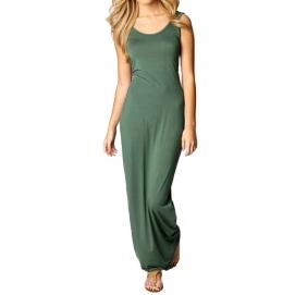 Vestido Casual Largo Verde