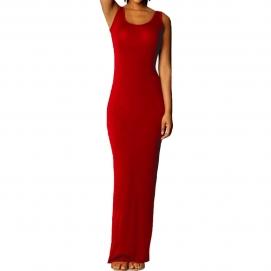Vestido Casual Largo Rojo