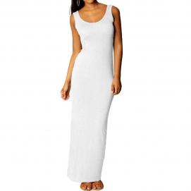 Vestido Casual Largo Blanco