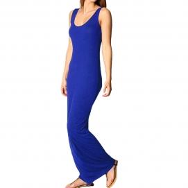 Vestido Casual Largo Azul