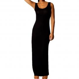 Vestido Casual Largo Negro
