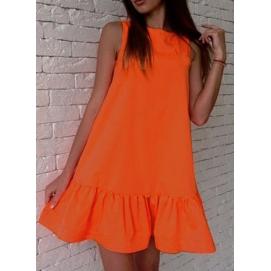 Vestido Casual Volantes Naranja