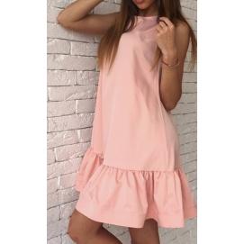 Vestido Casual Volantes Rosa