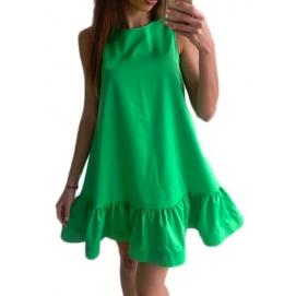 Vestido Casual Volantes Verde