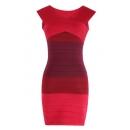 Vestido de Punto Hombros Caidos Rojo