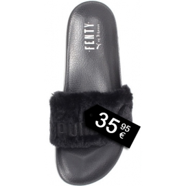 Zapatillas PMA Fur Slide Negro