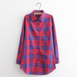 Camisa Cuadros - Rojo y Azul