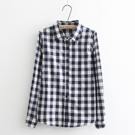 Camisa Cuadros - Blanco y Negro