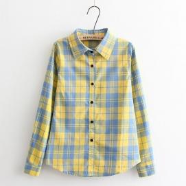 Camisa Cuadros - Azul y Amarillo