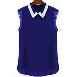 Blusa Sin Mangas - Azul