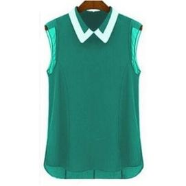 Blusa Sin Mangas - Verde
