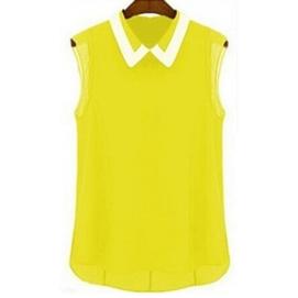 Blusa Sin Mangas - Amarillo