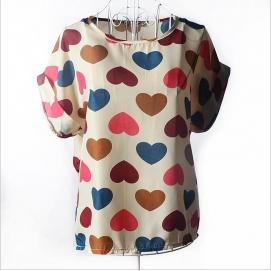 Blusa Estampado - Corazones
