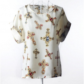 Blusa Estampado - Cruces