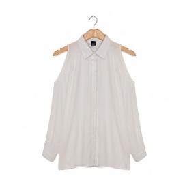 Blusa Hombros Descubiertos - Blanco