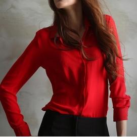 Blusa Manga Larga - Rojo