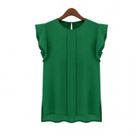 Blusa Volantes Selena Gomez - Verde