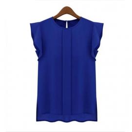 Blusa Volantes Selena Gomez - Azul