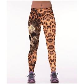 Leggins Calavera Leopardo