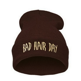 Gorro Bad Hair Day - Marrón