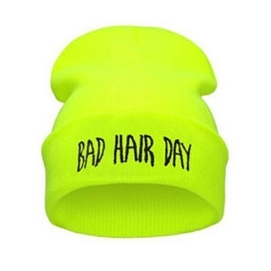Gorro Bad Hair Day - Amarillo Fluor