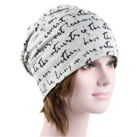Gorro Estampado Blanco