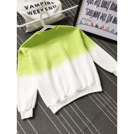 Sudadera Degradado Blanco-Verde