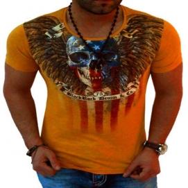 Camiseta Calavera Naranja