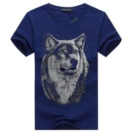 Camiseta Lobo Azul Marino