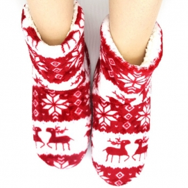 High Christmas Slippers Red