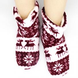 Zapatillas Altas Navidad Burdeos