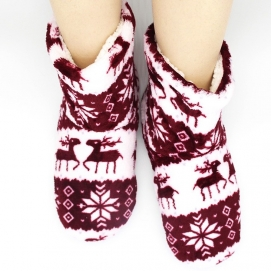 High Christmas Slippers Burgundy