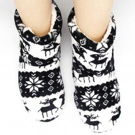 High Christmas Slippers Black