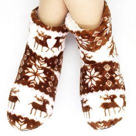 High Christmas Slippers Brown