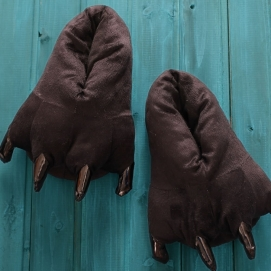 Brown Paw Slippers