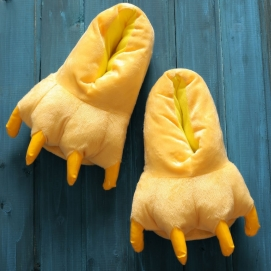 Yellow Paw Slippers