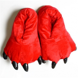 Red Paw Slippers