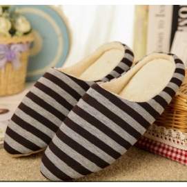 Zapatillas Rayas Marrón