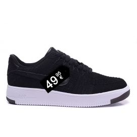 Zapatillas NK Air Force 1 Flyknit Negro (Bajas)