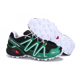 SMN Speedcross 3 Green and Black (White Sole)