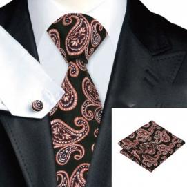 Set Corbata + Pañuelo + Gemelos Estampado