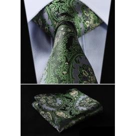 Set Corbata + Pañuelo Estampado