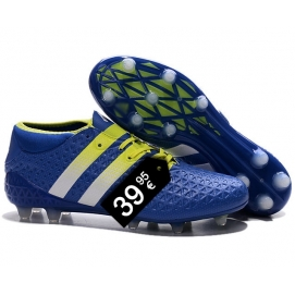 Zapatillas AD ACE 16.1 FG Azul y Amarillo