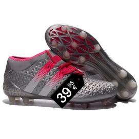 Zapatillas AD ACE 16.1 FG Plata y Rosa