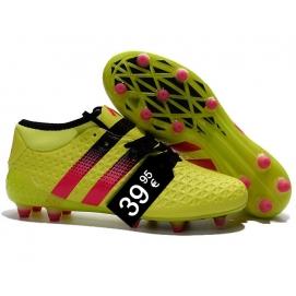 Zapatillas AD ACE 16.1 FG Amarillo y Rosa