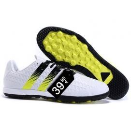 Zapatillas AD ACE 16.2 Messi TF Blanco y Amarillo Fluor