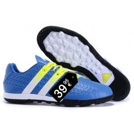 Zapatillas AD ACE 16.2 Messi TF Azul y Blanco