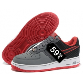 Zapatillas NK Air Force 1 Gris y Negro (Bajas)