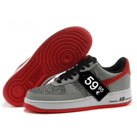 Zapatillas NK Air Force 1 Gris (Bajas)