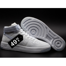 Zapatillas NK Air Force 1 Flyknit Blanco (Altas)